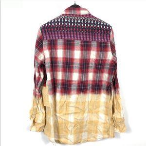 California moonrise Aztec Ombré Plaid Shirt